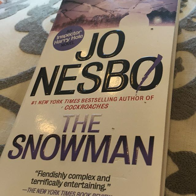 It's still 80* here but I'm ready for cooler weather. #JoNesbo #thesnowman #amreading