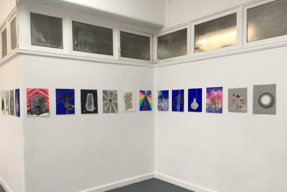 Naomi Bishop   Geomancy   installation view, works on paper   Image by Claire Grech