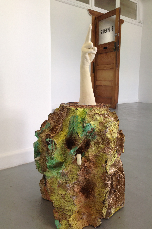 Melissa Matveyeff, Untitled, 2015, Polystyrene, enamel paint, plaster