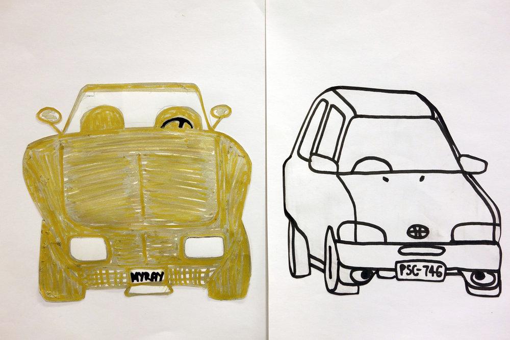 Lisa Frankland 2013 Gold car vs White Car (Dad vs Lisa)_cat.jpg