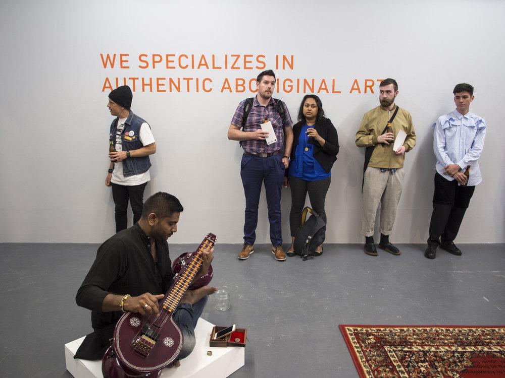 Hari Sivanesan + Priya Srinivasan +Steven Rhall |  Always there and all a part , BLINDSIDE 2017. Courtesy the artists. Photo Eliza Tiernan.