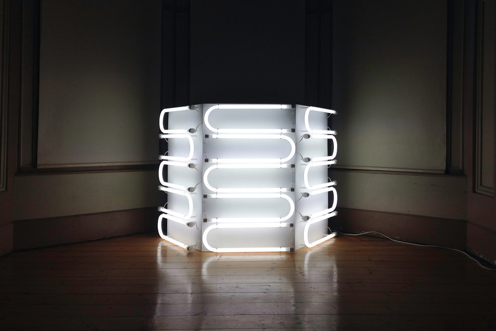 Meagan Streader,  One-Quarter U-Bend Column,  2017, light sculpture. | Courtesy the artist.
