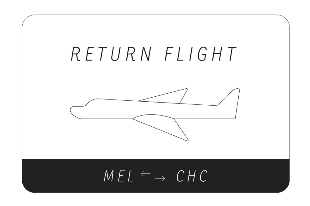 RETURN FLIGHT MEL>CHC  Curated by Elizaveta Maltseva  11 - 28 JUL 2018