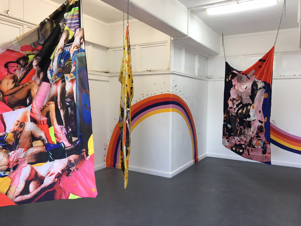 Kieran Butler,  Rainbow Bois and Magical Gurls,  2018, installation view, BLINDSIDE 2018. Courtesy the artist.