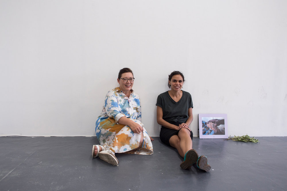 Fayen D'Evie + Katie West, BLINDSIDE Summer Studio Artists 2018. Photograph by Eliza Tiernan. Image courtesy the artists.
