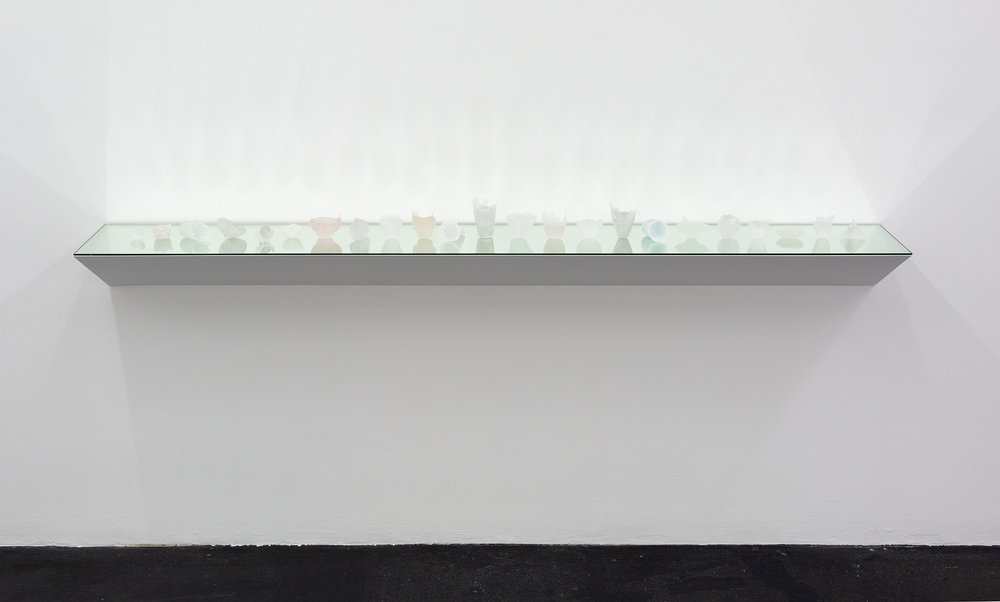 Jeremy Bakker , Manifest density,  2018 ,  Reconfigured drinking glasses. Each glass melted down and cast into the shape of its negative space. Dimensions variable. Photography Christian Capurro | Courtesy the artist.