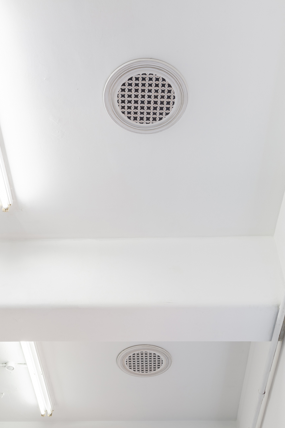 Jan Murray,  Ceiling vent (Old Police Hospital)  1 + 2,  Unseen,  BLINDSIDE 2018. Photo Christo Crocker | Courtesy the artist