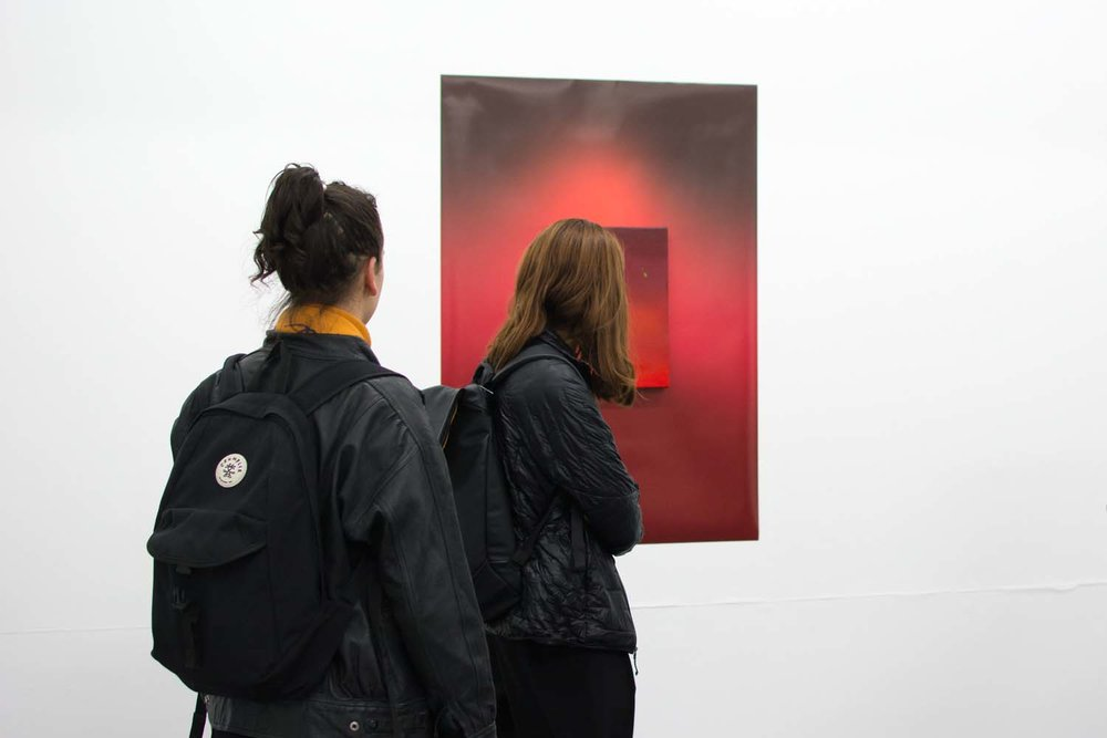 Daisy Lewis-Toakley,  Standing in Red , BLINDSIDE 2019. Photo Talia Carroll. Courtesy the artist.