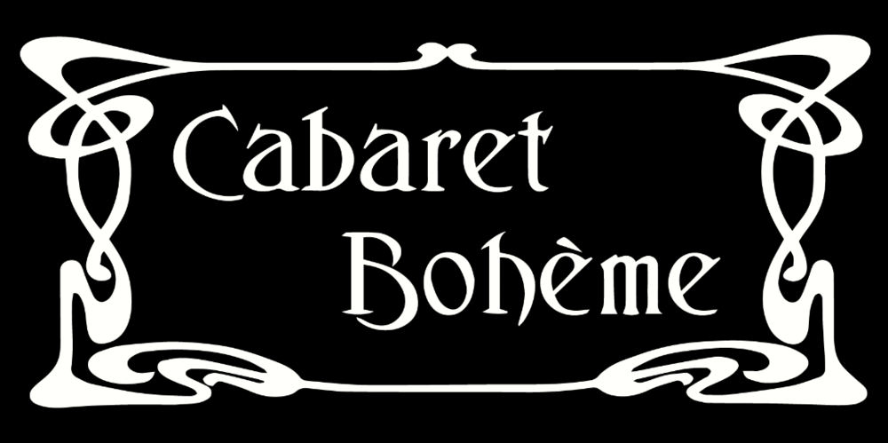 Cabaret Boheme Logo - Small - 3X6 - Transparent - White.png
