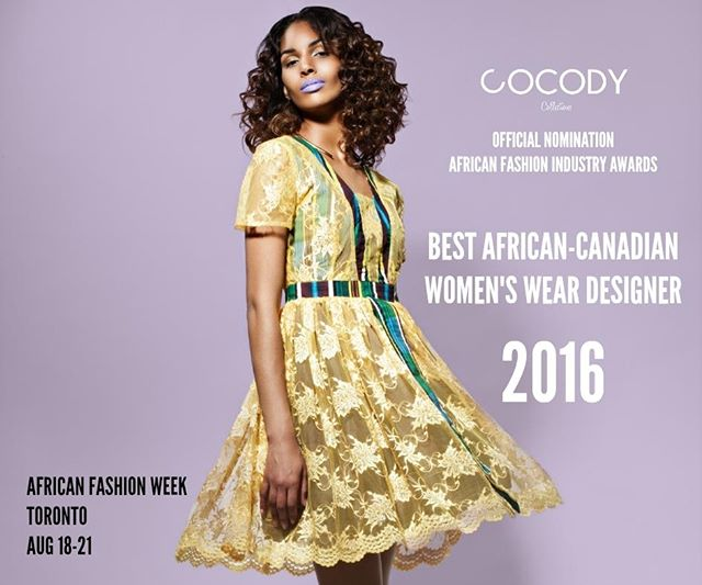Proud to announce you the nomination of Montreal's @cocodycollections in the category of Best African-Canadian Womenswear Designer of 2016. Thank you for all your support thoughout this journey, let's make it happen at the next @africanfashionweek! Crédits: @bencksphoto #african #fashion #afwt #cocodycollections #instafashion #dress #gold #couture #wax #mode #mtl #montreal #black #designer #fashionweek