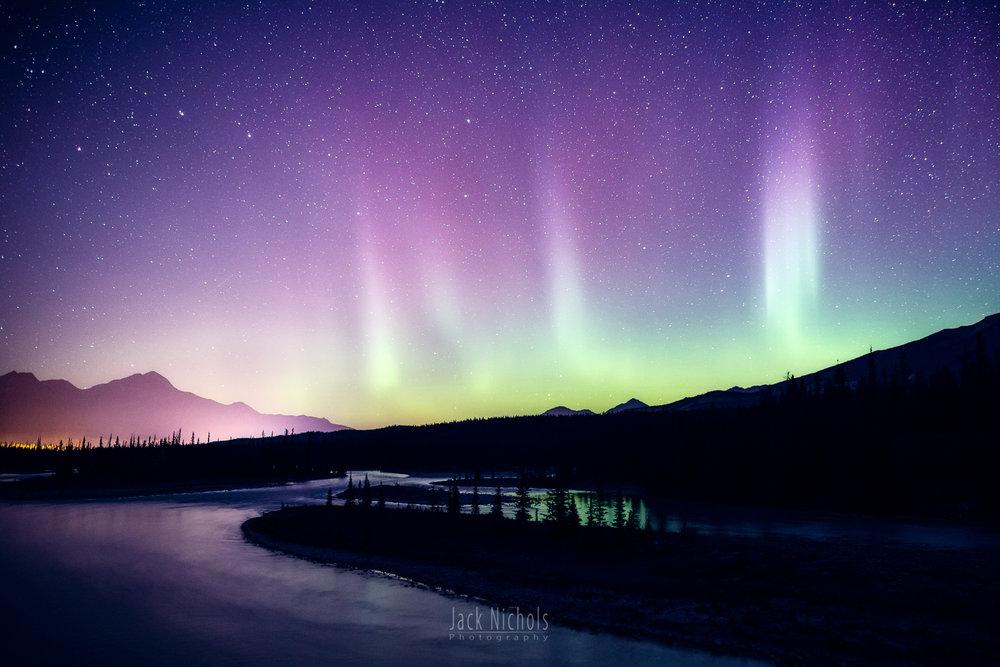Aurora example (Jasper National Park, Alberta)