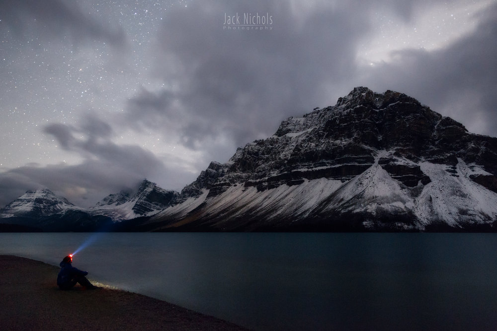 Nightscape example (Bow Lake, Banff National Park, Alberta)