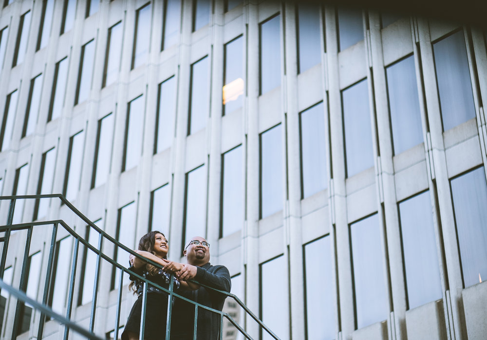 Engagement photoshoot at Embarcadero Center San Francisco