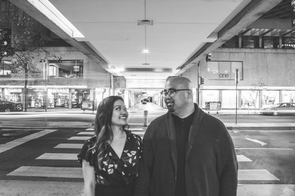 Engagement photoshoot at Embarcadero Center