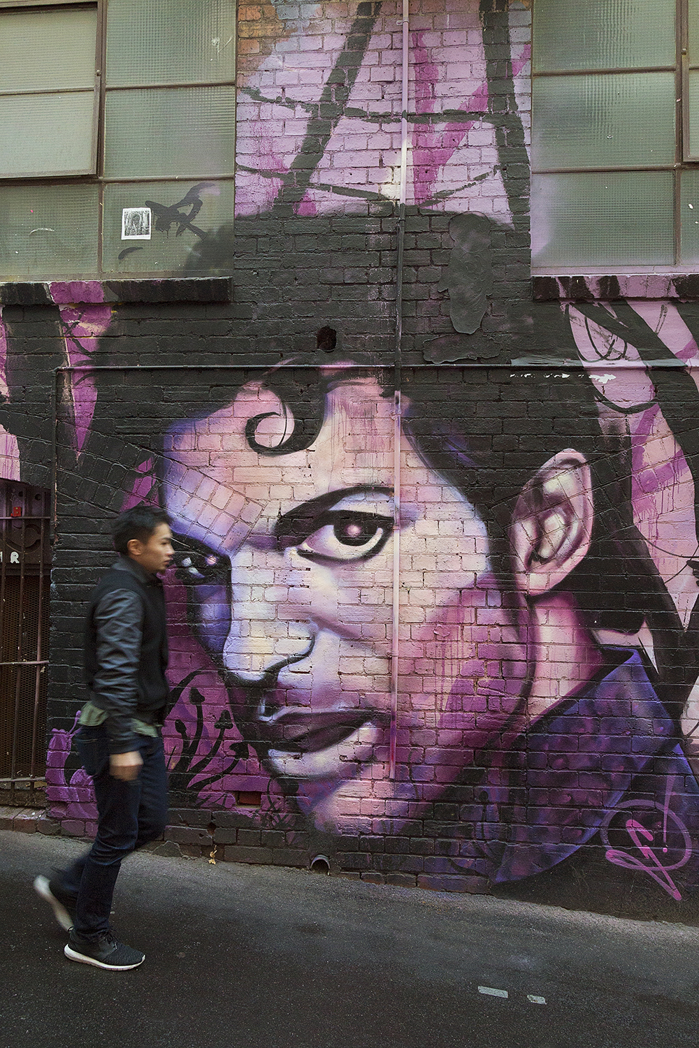The legendary Prince in Melbourne's ACDC Lane