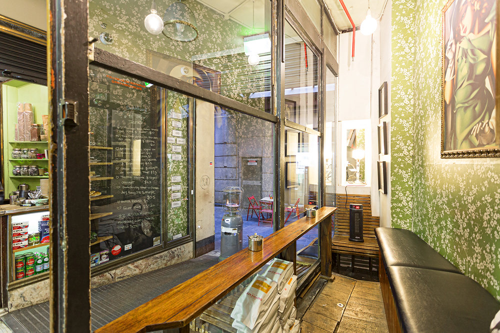 Switchboard Cafe, located on the ground floor of the Manchester Unity building, Melbourne