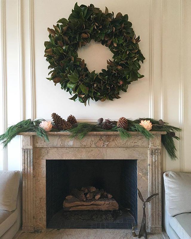 WREATHAPALOOZA! We installed this four-foot-wide magnolia beauty yesterday in San Francisco, lots more wreaths at the shed shop this weekend (10am–4pm).