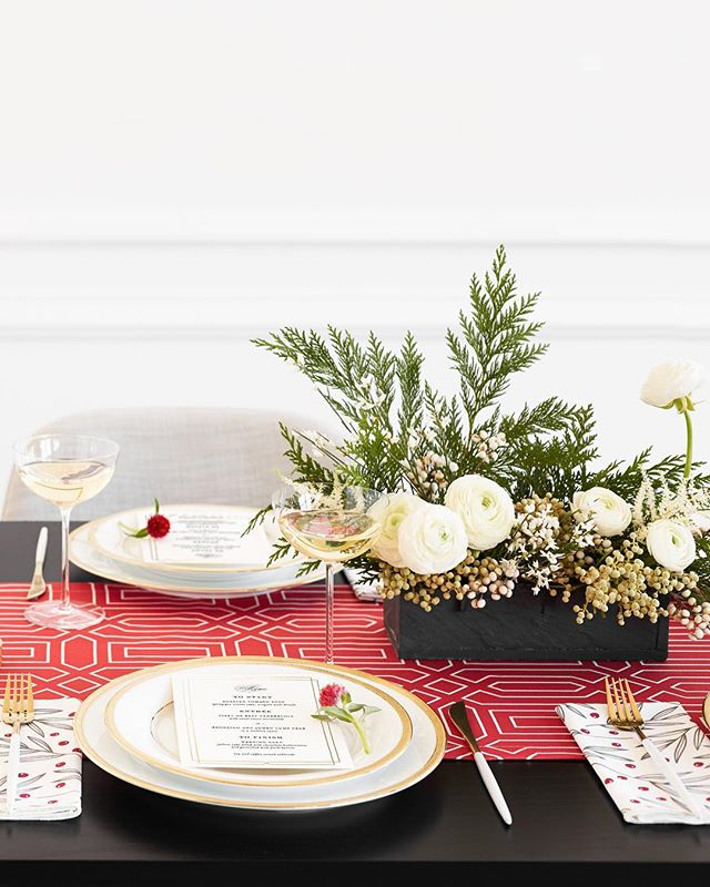 Holiday centerpieces are available! Order online (link in bio) and pick up from the shop next weekend (Dec. 22-23). • Swing by the shed today for some holiday crafting and merriment! We'll be making the cutest miniature wreaths. • Photo @jessigilbert816 | Styling @oliviakanaley | Stationery @minted