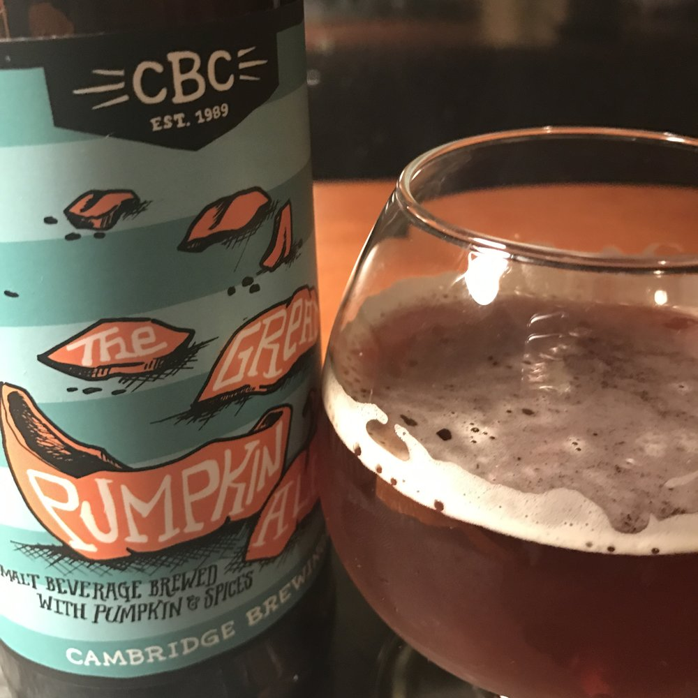 With the fantastic craft beer scene in New England, we are lucky to be treated to delicious Pumpkin Ales each fall including 'The Great Pumpkin Ale' from   Cambridge Brewing Company  .