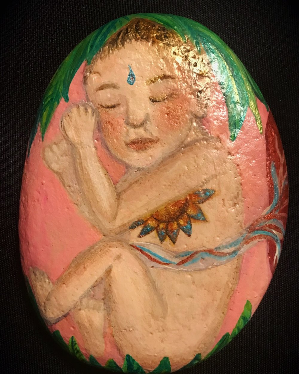 Birth meditation stone