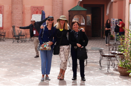 """Our Guide, Bev, Kerri & Jane in Marrakech""                                    Ron & Bev Myers, Sydney Australia"