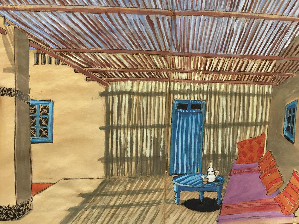 Cafe Tissardmine Painting.jpg