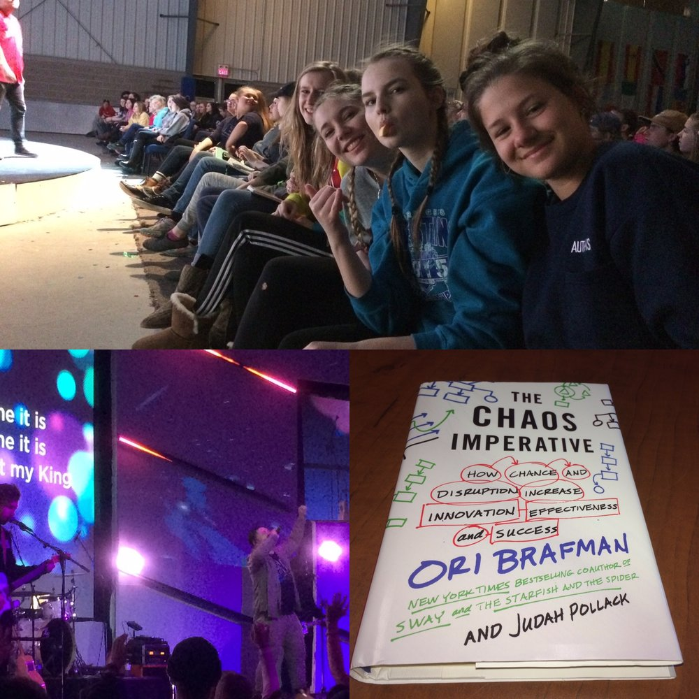 "A couple of shots from the Sno Camp retreats and one of ""The Chaos Imperative"" by Ori Brafman. A seriously great read."