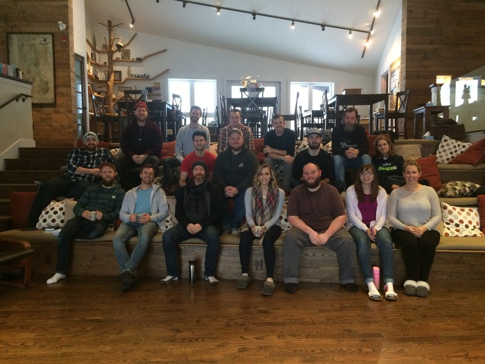 The crew of youth pastors at The Gathering 2017 at the Leadership Studio at Muskoka Woods