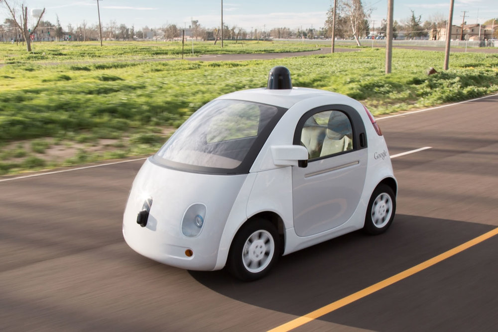 ' Google prototype self-driving car ' by Marc van der Chijs ( CC BY-ND 2.0 ), via Flickr.