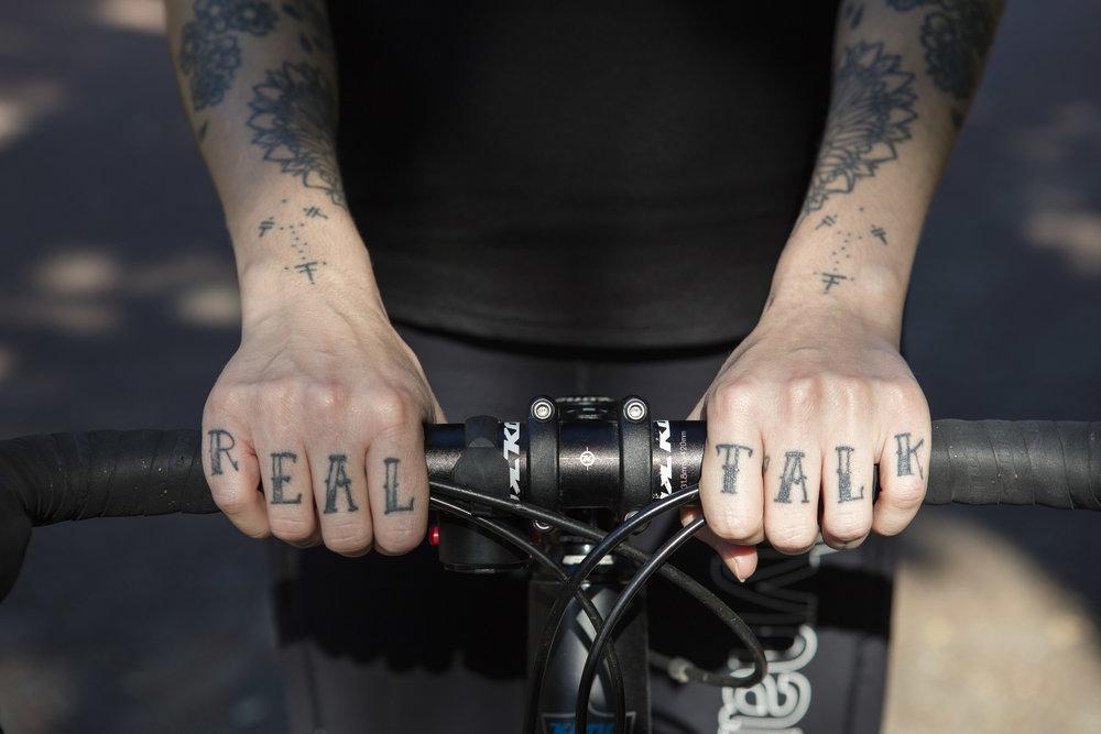 Top: American Apparel. Legging: Lululemon x Dynamo Cycling.