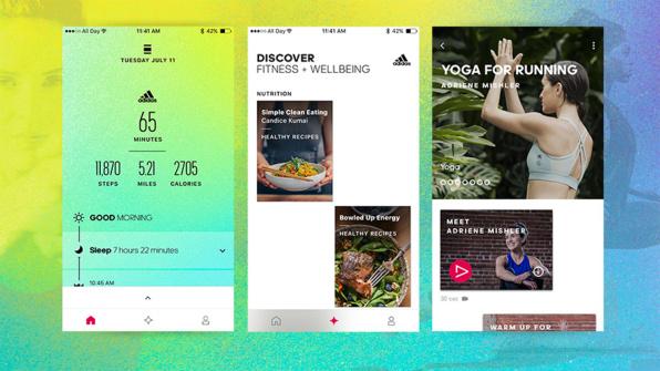 adidas app screens