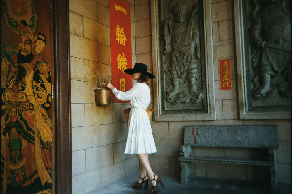 Blessing red envelopes at the  Thien Hau Temple  in downtown Los Angeles, a welcoming, inclusive place.  Photo by my son Rogan (6).