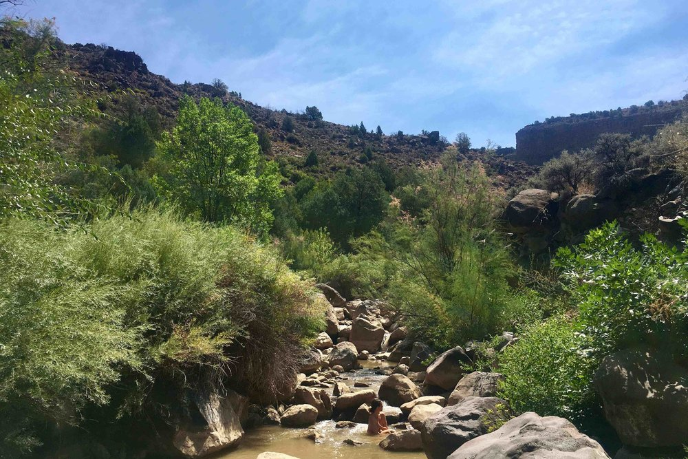 Alison Beckner bathing New Mexico