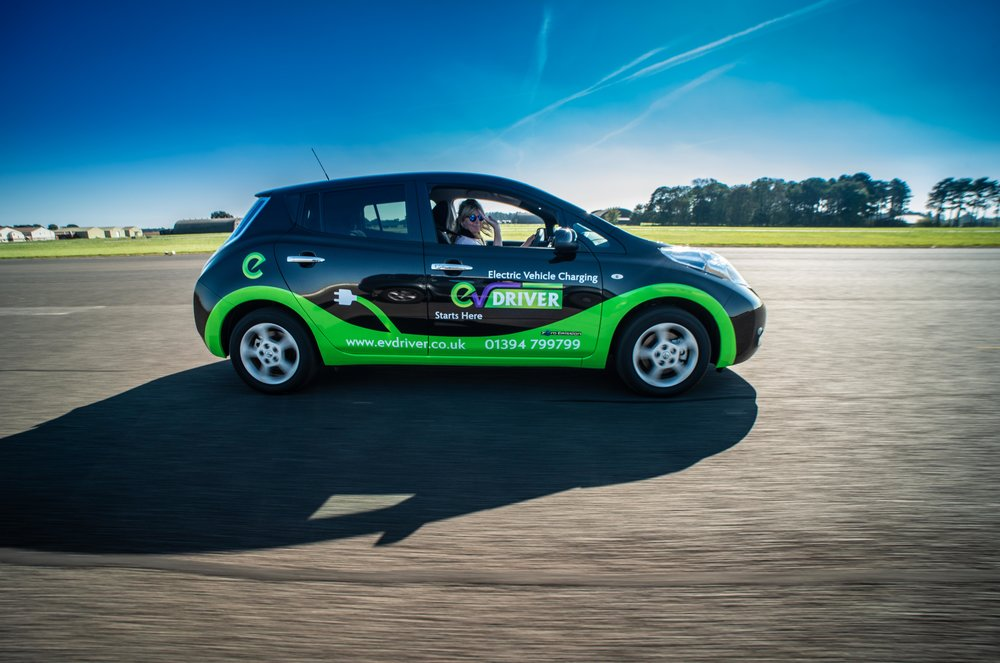 EV Driver CEO, Linda Grave, leading the way along the runway