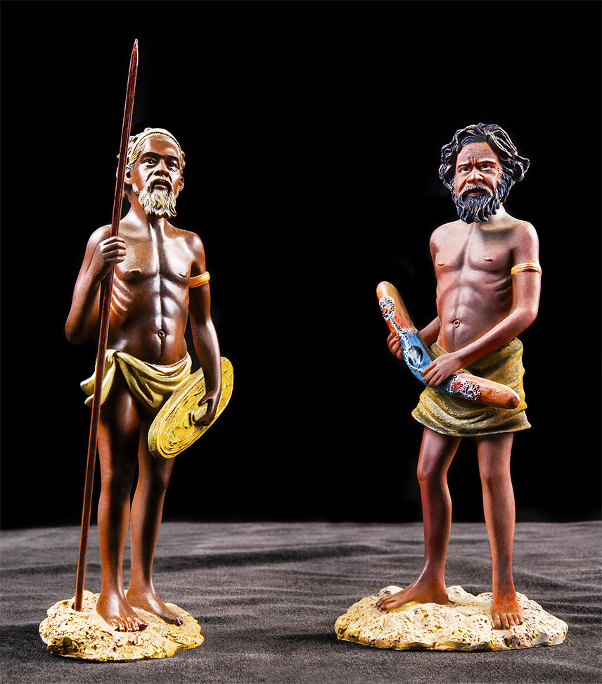 Duologues    Australian Aborigines (Made in China)  2019 (found objects: plastic) 63cm x 60cm