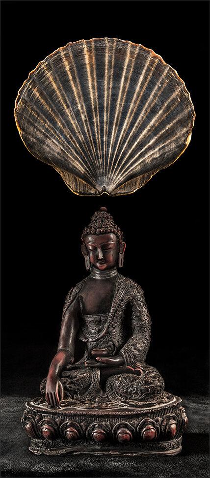 Touching The Earth    Buddha 2  2017   120cm x 53cm