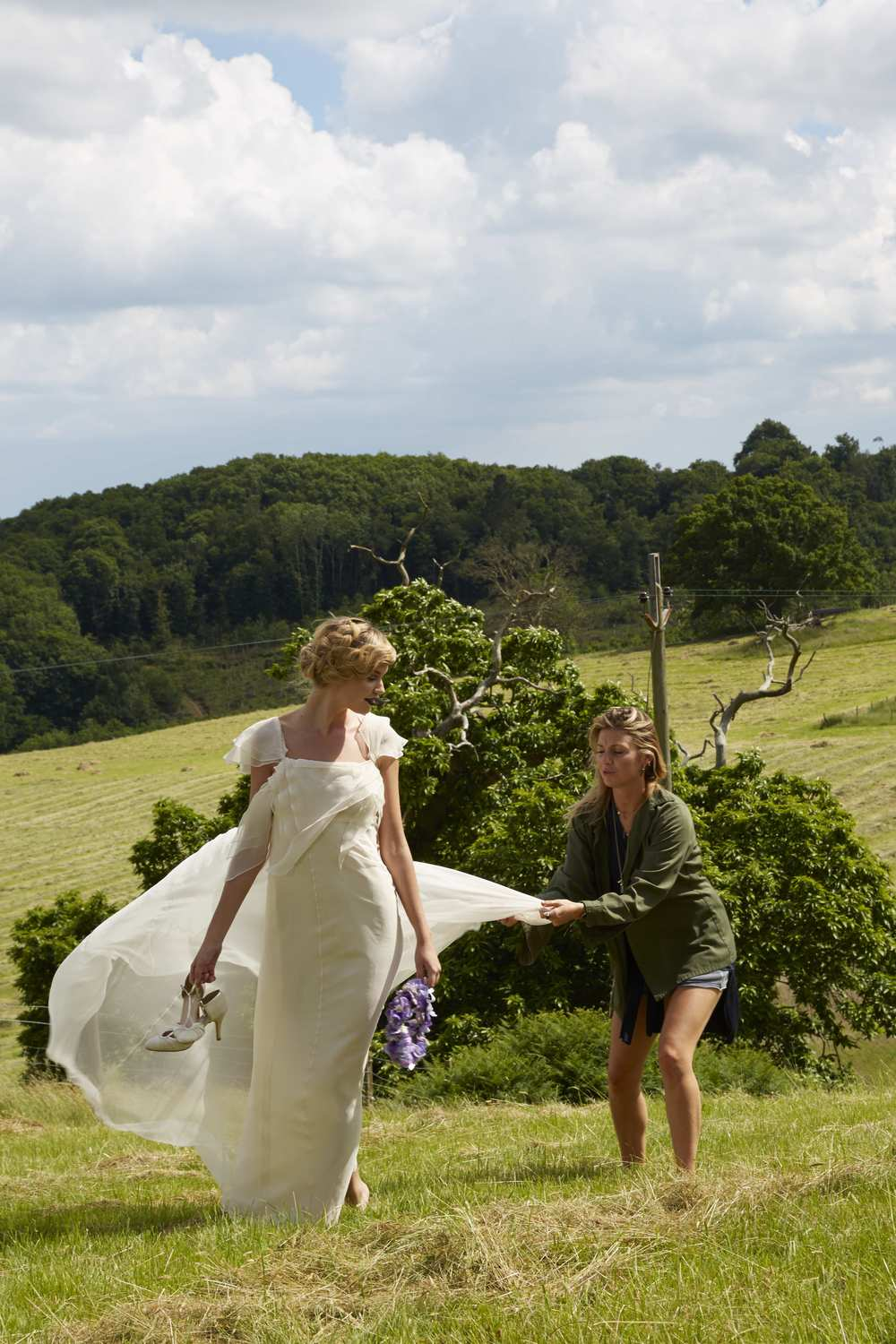 Negotiating with farmers in Devon so we could shoot some bridal