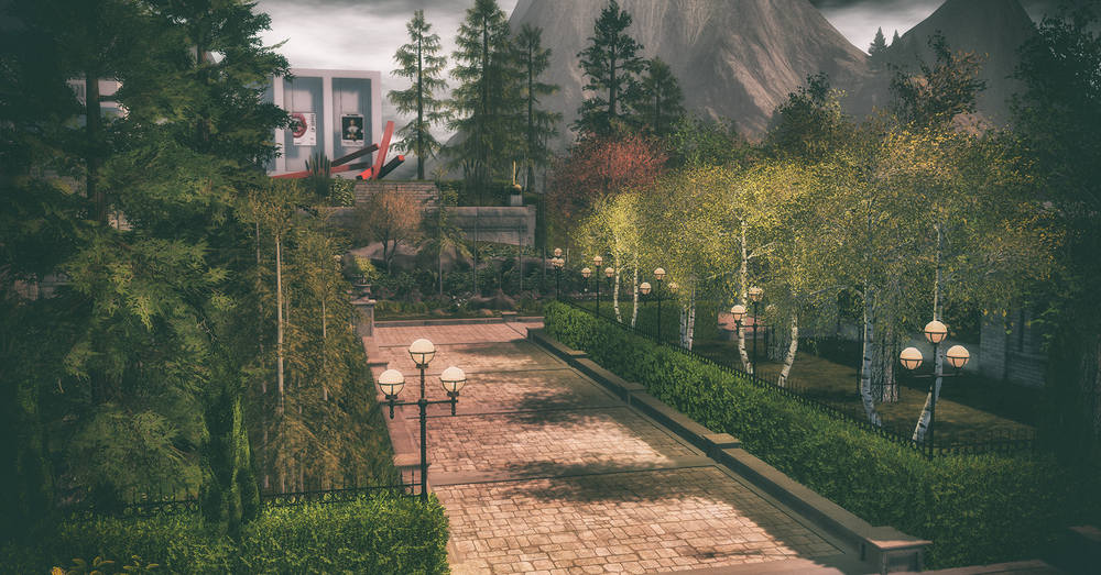 A look at the beautiful museum grounds. Landscaping and photo by Wendz Tempest