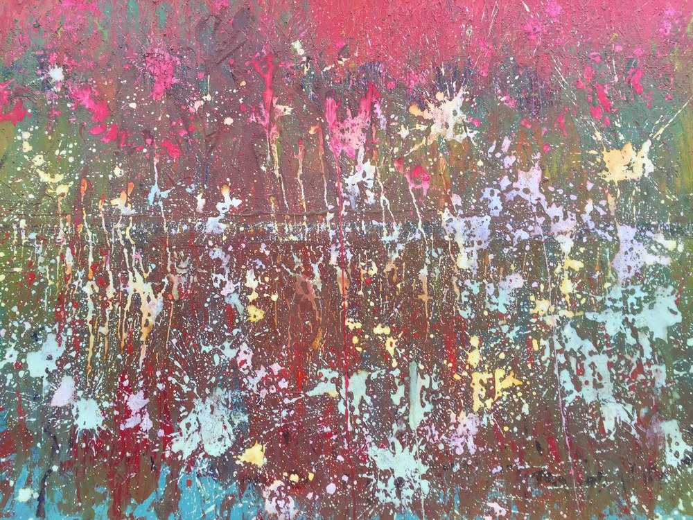Grantchester Meadows - (Tribute to Pink Floyd)Mixed Media 60'' x 40''£1100** SOLD **