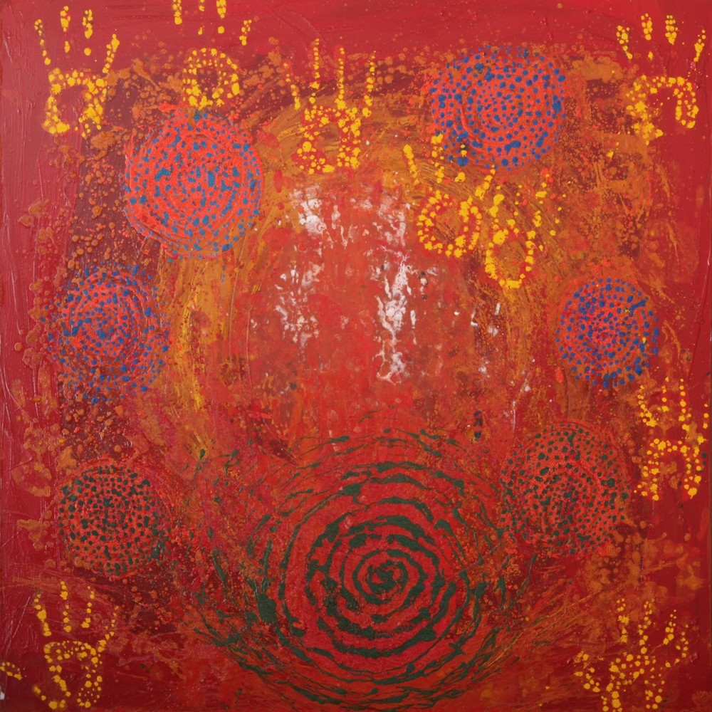 Dreamtime 1 - Oil, Acrylic, Moroccan Plant Powders48'' x 48''£850Prints Available
