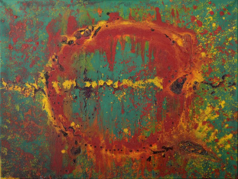 Green Portal - Mixed Media30'' x 24''On display in Bequia, St. Vincent & The Grenadines