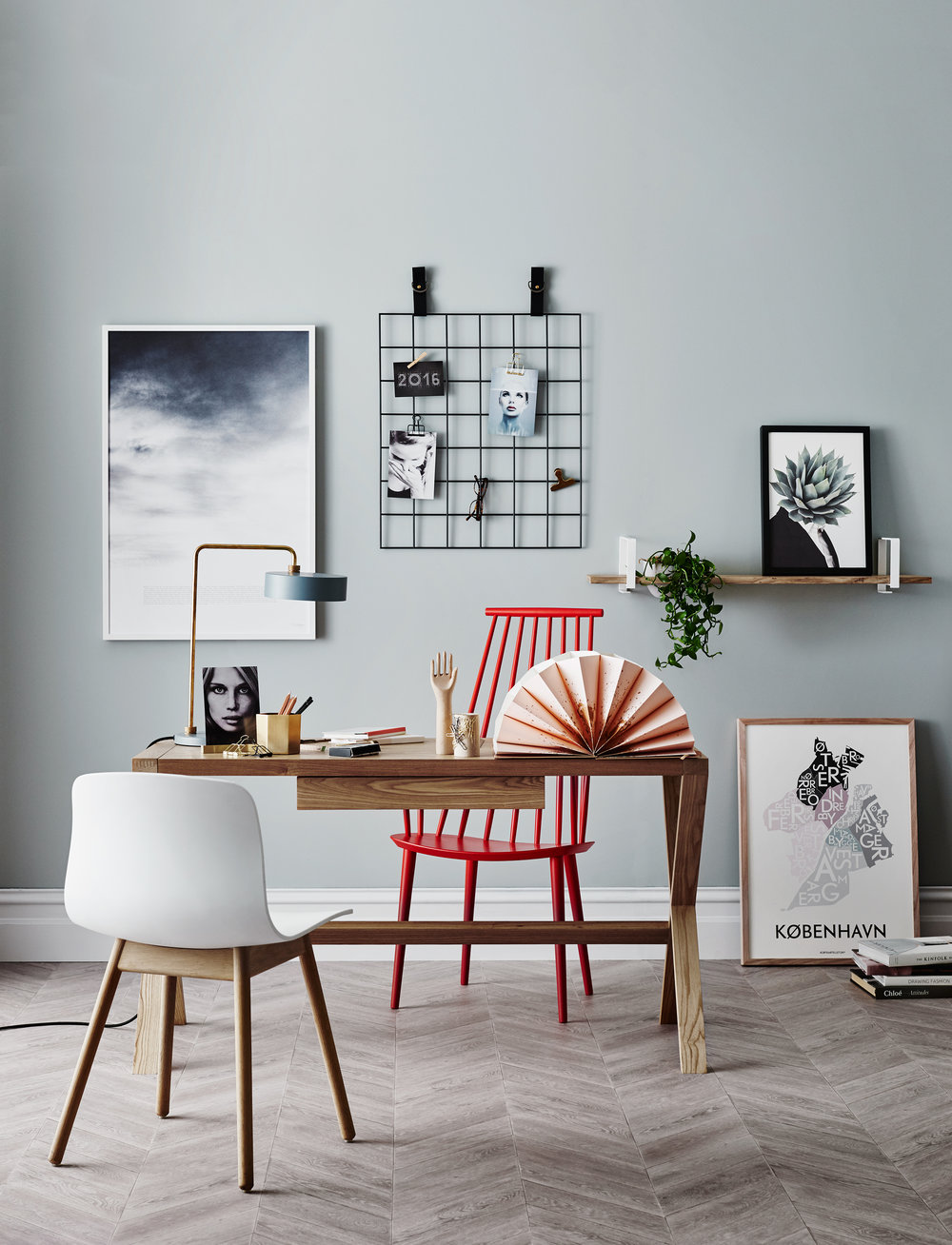 Adding a curated selection of artwork and curios offers daily inspiration.  Consider what resonates with you and mix and match frames to suit.  Remember affordable art can be changed regularly to suit your mood or focus.  Image courtesy of Norsu Interiors.  Styling: Michelle Halford, Pic: Lisa Cohen.