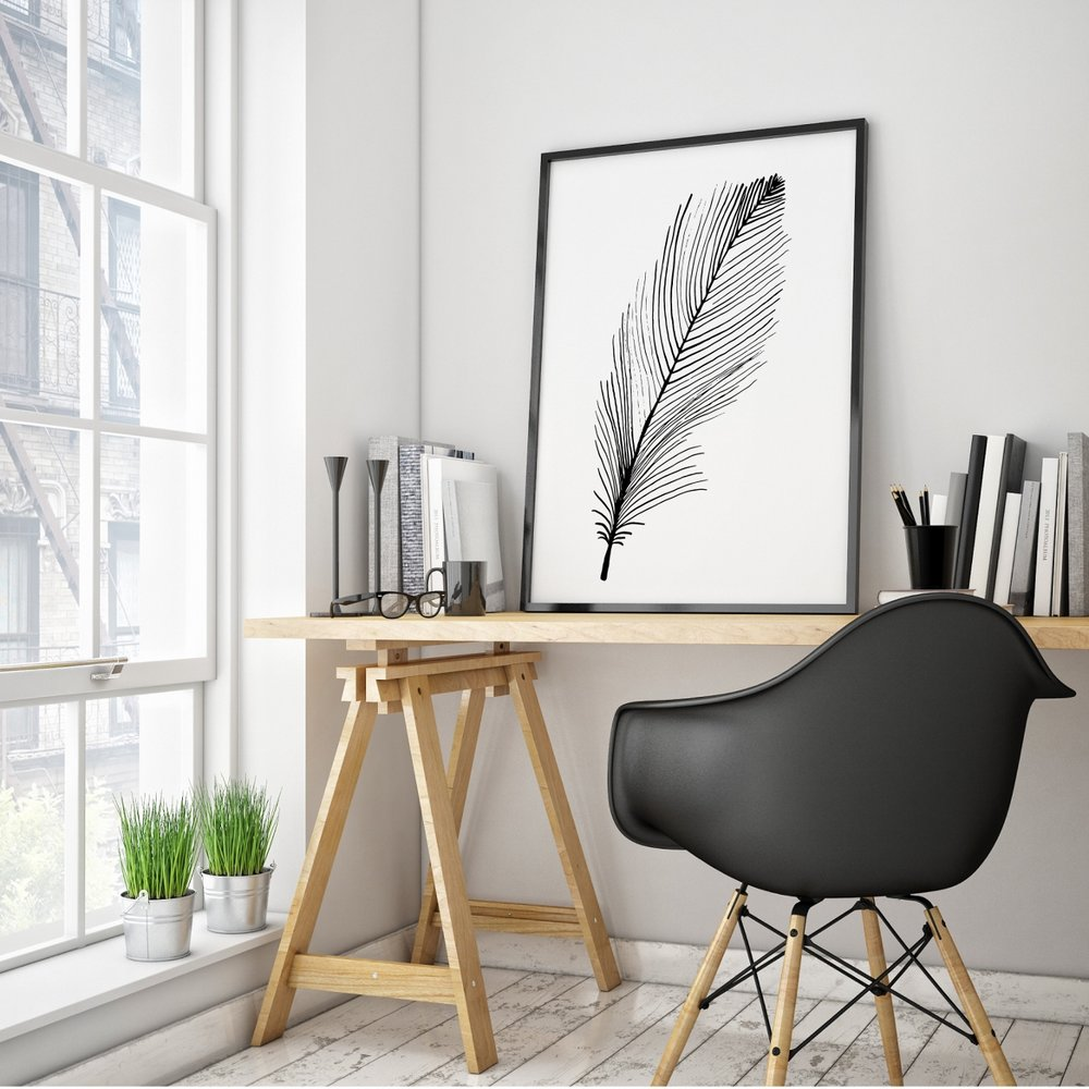 Nestled beside a window, with natural light streaming in and a serene view, location is everything when it comes to selecting the perfect spot to set up your work space.  Image courtesy of  U  rbaani