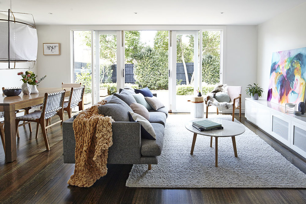 Maitland Street Interiors, Sarah Elshaug, Interior Decorator Melbourne, Interior Stylist Melbourne, The Glen Iris Project, Scandi Living Room