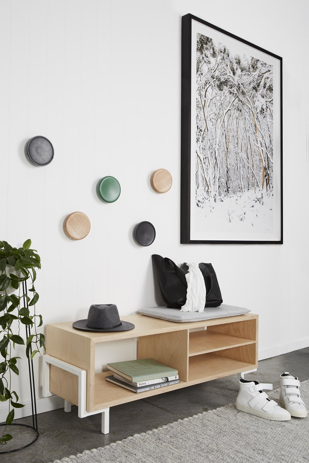 Maitland Street Interiors, Sarah Elshaug, Interior Stylist Melbourne, Felix Furniture Entry