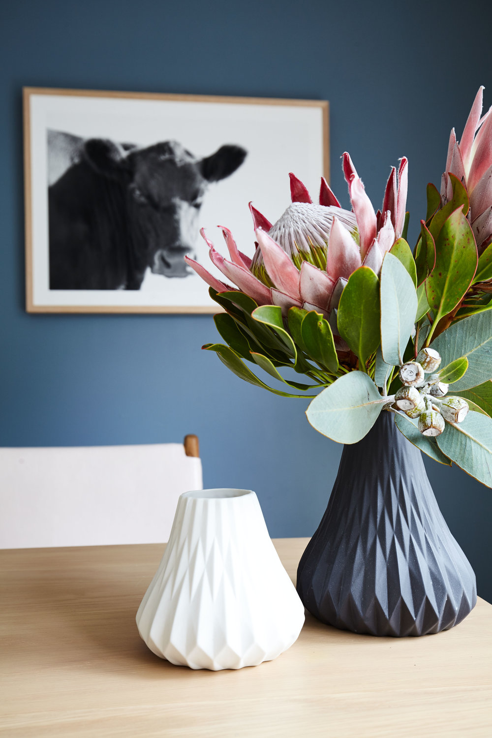 Maitland Street Interiors, Sarah Elshaug, Interior Stylist Melbourne, The MSI Studio, Home Office, Elsie + Hugo, Cow Prints, Limited Edition Artwork