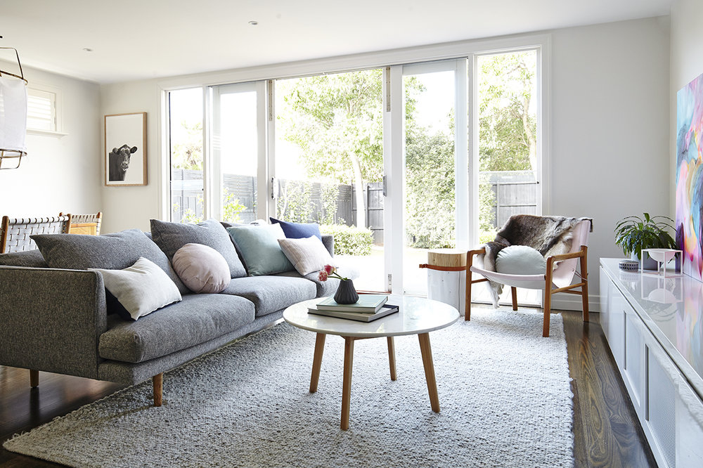 Maitland Street Interiors, Sarah Elshaug, Interior Decorator Melbourne, The Glen Iris Project, Scandi Living Room