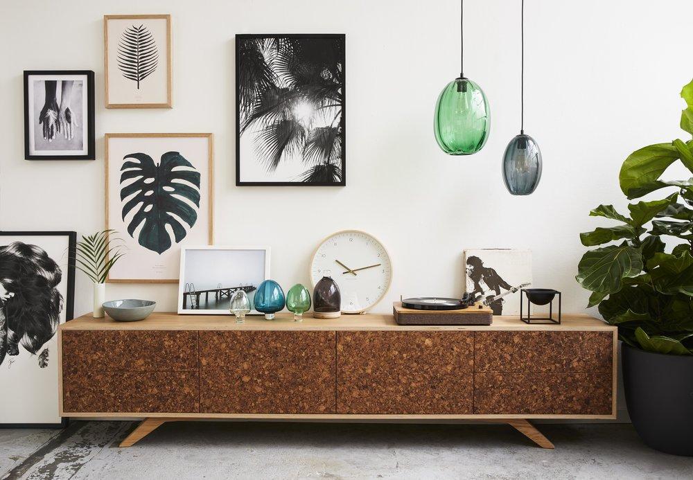 The lifestyle campaign for Felix Furniture, featuring their new 'Kork' Entertainment Unit. Interior Stylist: Sarah Elshaug, Maitland Street Interiors. Photographer : Stephanie Rooney