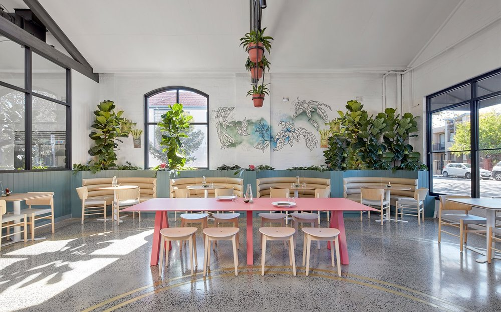 Au79 Café, Abbotsford.  Interior Design: Mim Design, Photography: Peter Clarke.