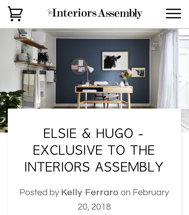 Elsie + Hugo, Animal art, Sarah Elshaug, Maitland Street Interiors, Limited Edition Prints